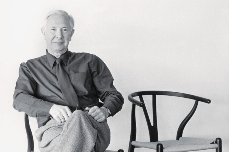 Hans Wegner and his chair